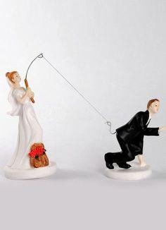 Fishing with Love Resin Wedding Cake Topper - Wedding Reception - Wedding
