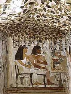 Detail Tomb of Sennefer, Egypt/ I love the grape vines that stretch across the ceiling.