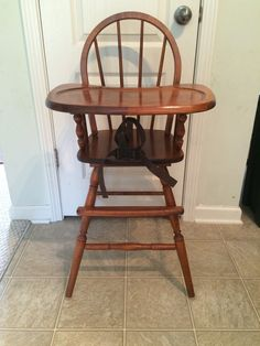Vintage Wooden High Chair Jenny Lind Antique High Chair Vintage
