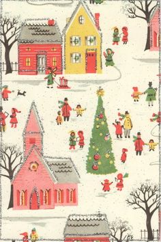 vintage Christmas card by adeline