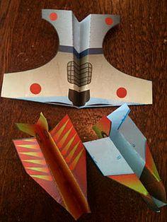 paper airplane valentines