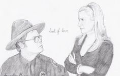 Dwight Schrute and Angela Martin from The Office. I'm giving this picture to Rainn Wilson, who plays Dwight. Dwight and Angela Dwight And Angela, Angela Martin, Monkey 3, Dwight Schrute, Paper People, Dunder Mifflin, Tv Couples, Looking For Love, The Office