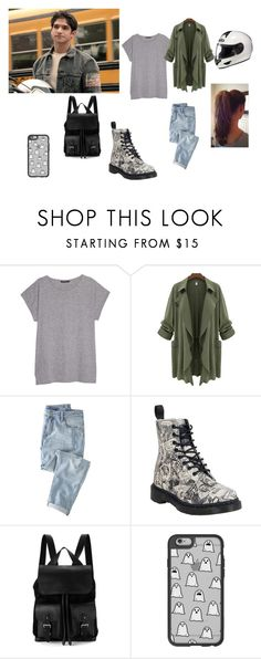 """""""cool motorcycle"""" by rosesophiawalker ❤ liked on Polyvore featuring Violeta by Mango, Wrap, Dr. Martens, Aspinal of London and Casetify"""