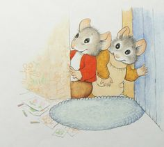 """Cyndy Szekeres' Tiny Paw Library - A Mouse Mess"" by Cyndy Szekeres, 1990 (https://www.etsy.com/listing/119296831/a-mouse-mess?ref=related-5)"