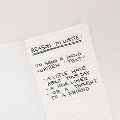 One of our favorite reasons to write shared by @eggpress during their #write_on campaign. We are all about jotting down those daily thoughts and sending them off to someone. So much better than a text. And the letter will live on forever! // www.ofnotestationers.com