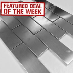 "Stainless Steel Subway Tile - Brick 2"" x 6"" - Sale Price $8.59 Sq.Ft"