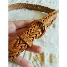"[VTG] Genuine Leather Braided Belt sz32 This is a sweet little braided belt in great vintage condition. There's some slight spotting towards the very tip seen in the 1st photo. I'm assuming they're old water stains, but it doesn't affect the quality of the leather and isn't noticeable when worn. Great for cinching dresses!  +Marked size 32 +1"" wide, 34"" long  ::NO TRADES::USE OFFER BUTTON:: Vintage Accessories Belts"