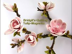 Quilling flowers 3D Tulip-Magnolia (Tutorial) - YouTube