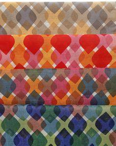 Alexander Girard, textile design Feathers, 1957. Printed on plain weave. USA. Via Cooper Hewitt