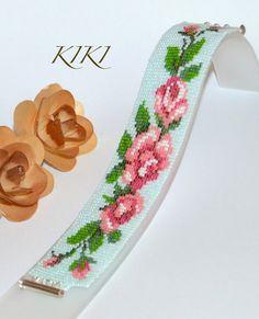 Roses loom bracelet