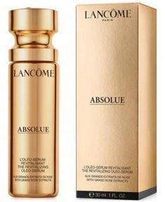 Lancome Absolue Revitalizing Oleo-Serum With Grand Rose Extracts, 30 ml - Ml #HowToDoEyeshadow Skin Serum, Face Serum, How To Do Eyeshadow, Lancome Absolue, Facial, Camellia Oil, Anti Aging Serum, Travel Size Products, Sensitive Skin