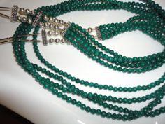 Dark Green Necklace Multi Strand Dark Green by BeeyondBeeads, $39.99