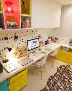 Home office do @capitaozeferino! Já vi pessoalmente e ficou muito lindo, eles…
