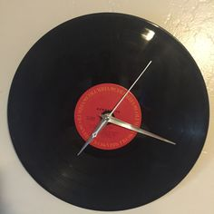 Original Aerosmith Standard LP Vinyl Record Clock