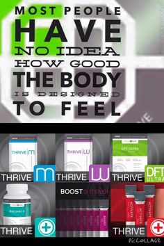 I my Thrive.. Gives me Energy to get through the day as well as Relief from joint pain. It's simple just capsules, shake and DFT foam.. Done for the day.. www.thrivelife2b.le-vel.com