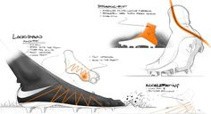 The Nike Hypervenom Phantom 2 Design Sketches provide unique insights into the development, tech features and design of the Nike Hypervenom II Soccer Cleats.