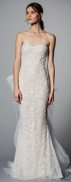 marchesa spring 2018 bridal strapless sweetheart neckline full embellishment elegant romantic sheath wedding dress sweep train (06) zv  -- Marchesa Bridal Spring 2018 Wedding Dresses #weddingdress
