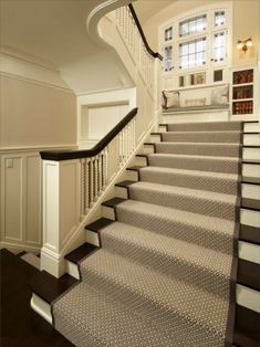 home residential work carpeting for stairs. Image of: Contemporary Stair Runners By The Foot. Carpeting with tapestry borders on staircase and floor. how to install carpet on stairs replace stair tread ideas best type. Tartan Stair Carpet, Carpet Stairs, Basement Carpet, Wall Carpet, Vestibule, Open Basement Stairs, Open Staircase, Staircase Ideas, Basement Ideas