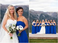 Royal blue and white wedding at San Sophia Overlook #telluride #colorado #destination #wedding
