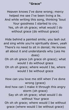 G R A C E Bebe Cece Winans Lyricsmusic Lyricssong