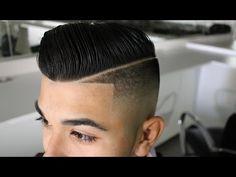 HOW TO: Pompadour w/ Low Taper Bald Fade & Beard | Men's Haircut Tutorial | HD - 1080 - YouTube
