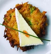St. André®-topped Sweet Potato Pancakes