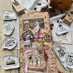 "Thita M. on Instagram: ""Coffee lover junk journal☕️ . . #junkjournal #vintagejunkjournal #handmadejunkjournals #handmadejunkjournal #plannerlife #stationeryaddict…"" Life Planner, Junk Journal, Journals, Personalized Items, Coffee, Handmade, Instagram, Kaffee, Hand Made"