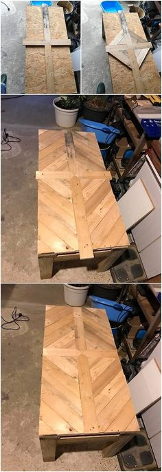 Sometimes the creative working of the pallet table can look mesmerizing lovely when it is being implemented with the wood pallet work over it. This is one such splendid idea that will take your hearts away. Over this pallet table design, pallet planks are assembled together in mind-blowing way.