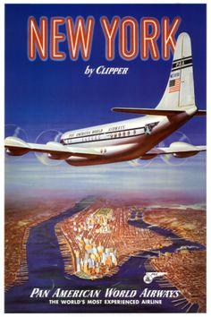 New York City....Vintage Travel Poster