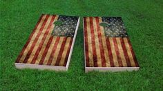 Worn American Flag Themed 2x4 Custom Cornhole Board Set with bags | Custom Corn Hole | Bag Toss | Corn Toss | Bean Bag Toss by CornholeBoardsDOTus on Etsy https://www.etsy.com/listing/234072233/worn-american-flag-themed-2x4-custom