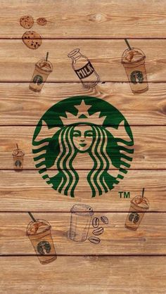 Starbucks coffee wallpaper by tutoshoney Trendy Wallpaper, Cute Wallpaper Backgrounds, Aesthetic Iphone Wallpaper, Screen Wallpaper, Wood Wallpaper, Wallpaper Ideas, Coffee Wallpaper Iphone, Starbucks Wallpaper, Coffee Wallpapers