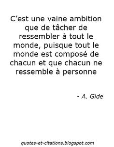 Quotes Et Citations: A. Gide