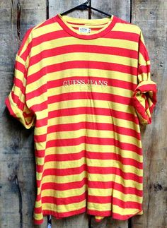 Guess Jeans USA Striped T ShirtCirca 90 sTag Size - XLFits like a  XLPreowned Excellent 66d244a9dc7ce