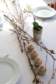 Eierbecher aus Beton - Styling für ostern // concrete egg cups tutorial