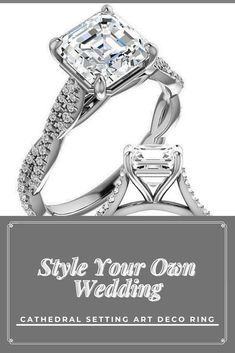1.73Ctw Asscher Cut Engagement Ring, Twist Eternity Ring, Round Moissanite Engagement Ring, 14k White Gold Ring **Description of Ring ___________________________ ● Moissanite Details → Stone Shape : Asscher Cut → Stone Size : 1.50 CT → Stone Measurement : 7.00 mm → Stone Color : EF → Stone Clarity : VVS1 ● Side Stone Details → Side Stone Shape : Round Cut → Side Stone : 64 Stone → Total Stone Weight : .0.23ctw → Stone Color : EF → Stone Clarity : VVS1 ●Band Thickness : 1.60 mm Halo, Full Eternity Ring, Asscher Cut, Art Deco Ring, Stone Weight, White Gold Rings, Engagement Rings, Diamond, Jewelry