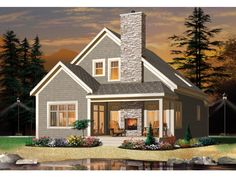 Eplans New American House Plan - Three Bedroom Country Home - 1742 Square Feet and 2 Bedrooms from Eplans - House Plan Code HWEPL75550