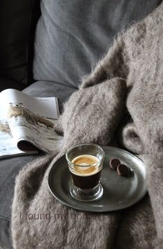Cozy moment with reading, coffee and chocolate. #cozy