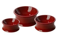 "One for Pets The Kurve Raised Dog Bowl, Small, Red. Heavy enough to avoid tipping or being pushed over. Size: Medium: 7"" Dia x 3 1/5"" H (26oz/770 ml). Classy and functional; it fits right in with your home decor. White. Black. This elegantly crafted and glazed ceramic Kurve Raised Dog Bowl is a great dish for your pet, big or small. Size: Single. Easy to clean. Choose from 3 colors: Red. Item Dimensions: width: 602, height: 268 hundredths-inches."