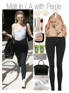 """""""Untitled #1008"""" by fatima-styles102 ❤ liked on Polyvore featuring Topshop, Exclusive for Intermix, Converse, Victoria Beckham, Smith & Cult, Maybelline, L'Oréal Paris, Native Union and Givenchy"""