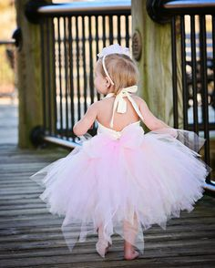 Blush Flower Girl DressTutu and Corset by BellaBeanCouture on Etsy,