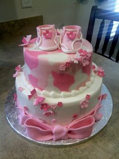 Pink Camo Baby Shower Cake | Flickr - Photo Sharing!