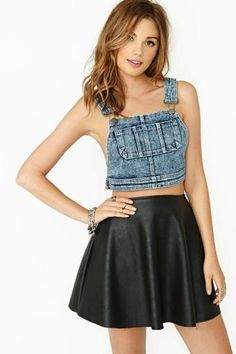 Slacker Overall Crop Top