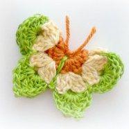 Crochet Pattern for Green Butterfly by CrochetZone.com