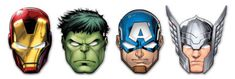 Mighty Avengers - Die-cut Masks