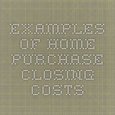Home purchase closing costs. Read a detailed description about various kinds of closing costs involved with a home purchase. Closing Costs, Closer