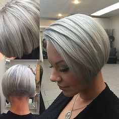 Hair passion added a new photo. Edgy Haircuts, Blonde Bob Hairstyles, Short Layered Haircuts, Blonde Hair, Short Wedge Hairstyles, Short Hair Dont Care, Short Hair Cuts, Short Hair Styles, Extreme Hair Colors