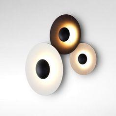 Wall Lamp Led Marset Ginger C Lighting Disk Design Luminaire Mural, Luminaire Design, Lamp Design, Small Wall Lights, Modern Wall Lights, Wall Fixtures, Wall Sconces, Wall Lamps, Interior Dorado