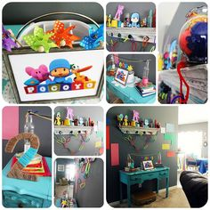 Pocoyo party. Candice this lady had a bunch of cute ideas and they look relatively  inexpensive.