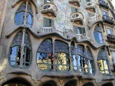 Barcelona, Spain: Casa Batllo: facade (1904-1907, architect Antoni Gaudi