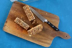 Spicy Peanut and Banana Chia Bars